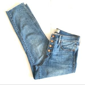 J.Crew Button Fly High Rise Skinny Jeans